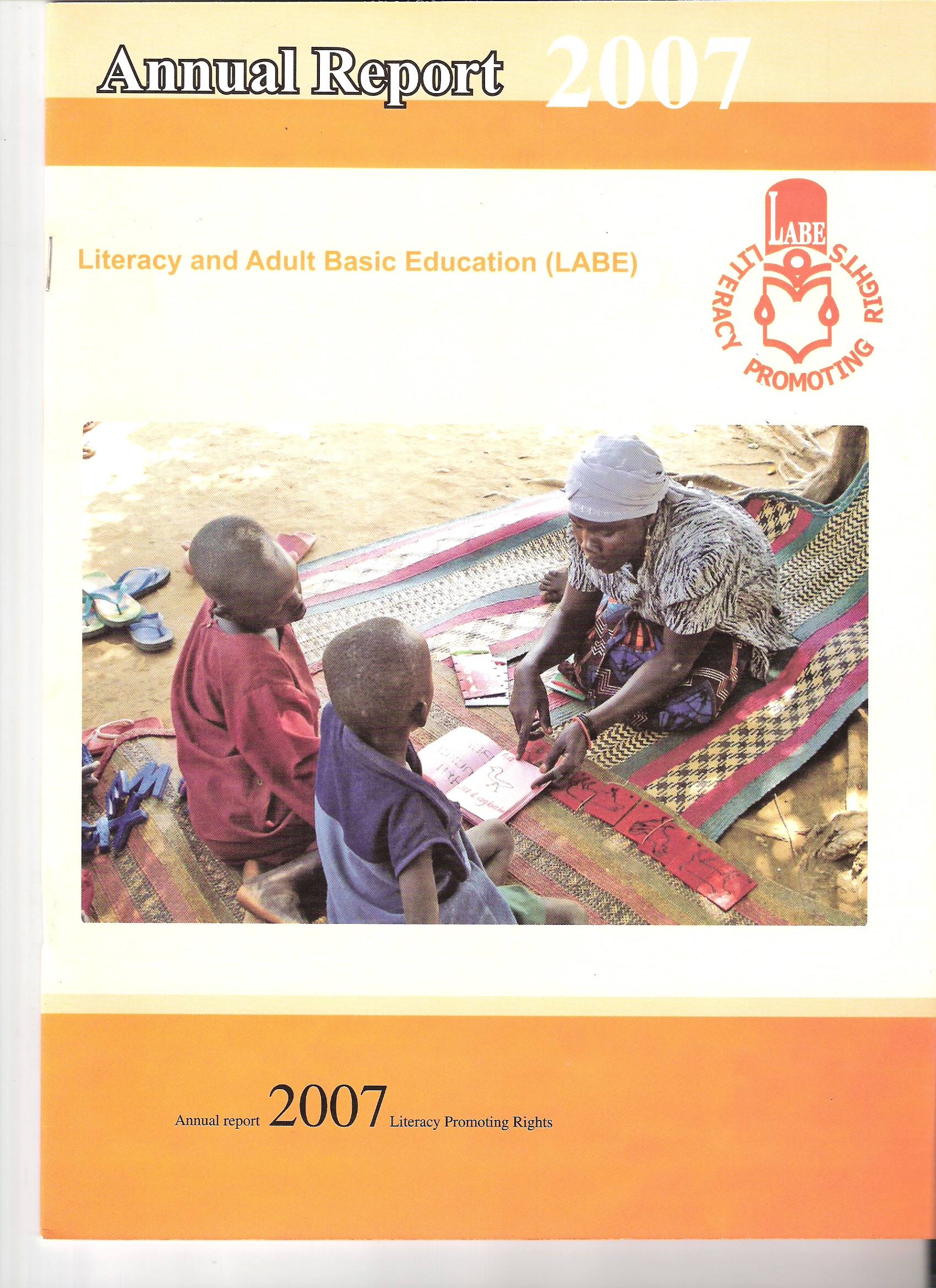 literacy and adult basic education resources annual report front page 2007